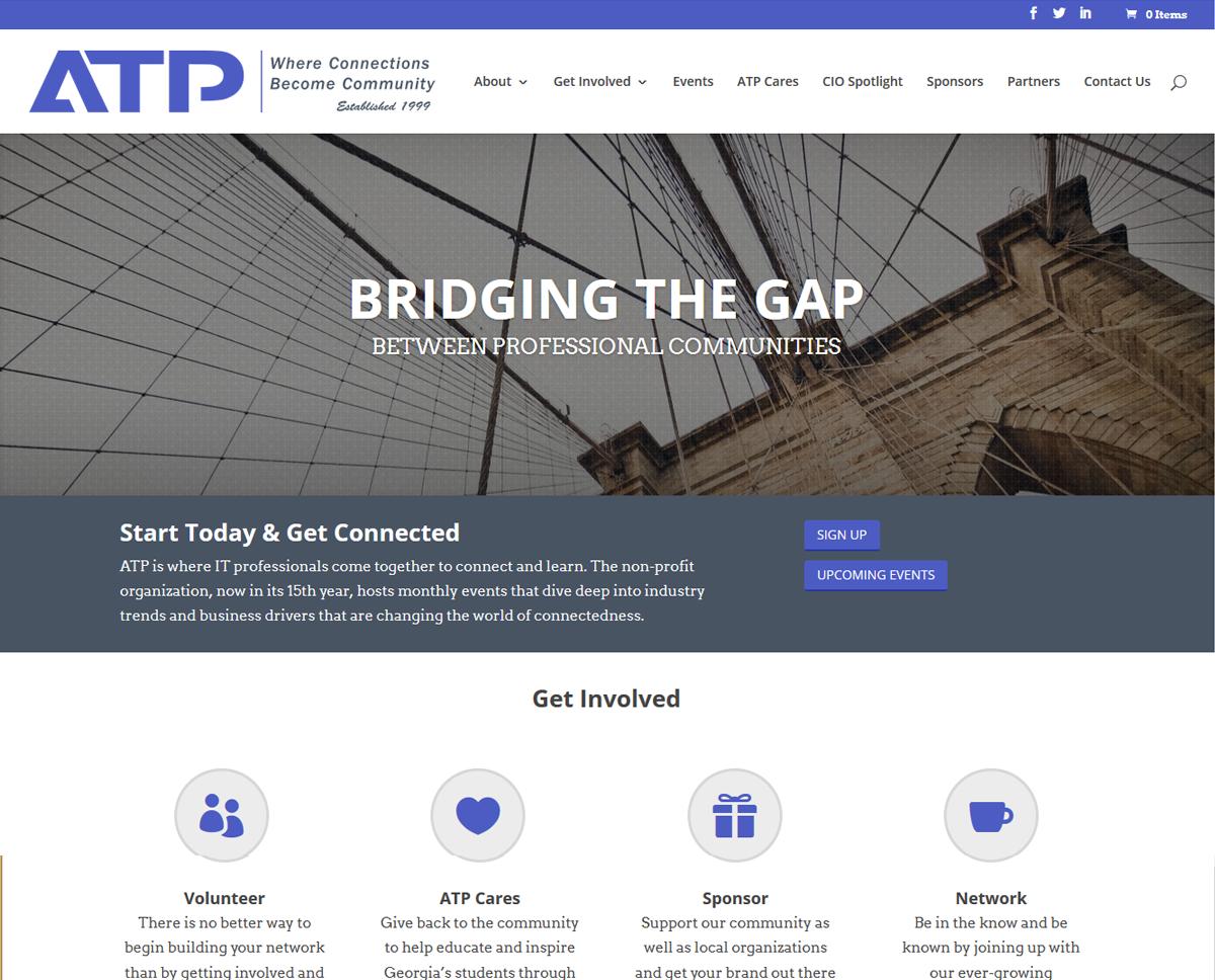 Screenshot of ATP's website after