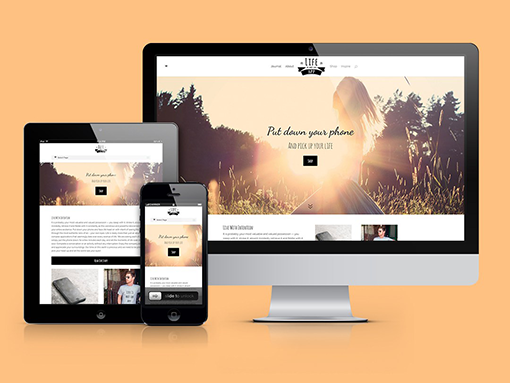 Designs of the responsive website for Life Is Not An App